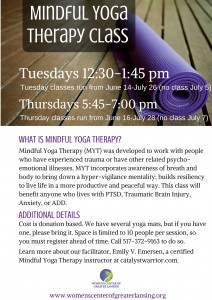 Mindful Yoga Therapy Class Flyer (1)